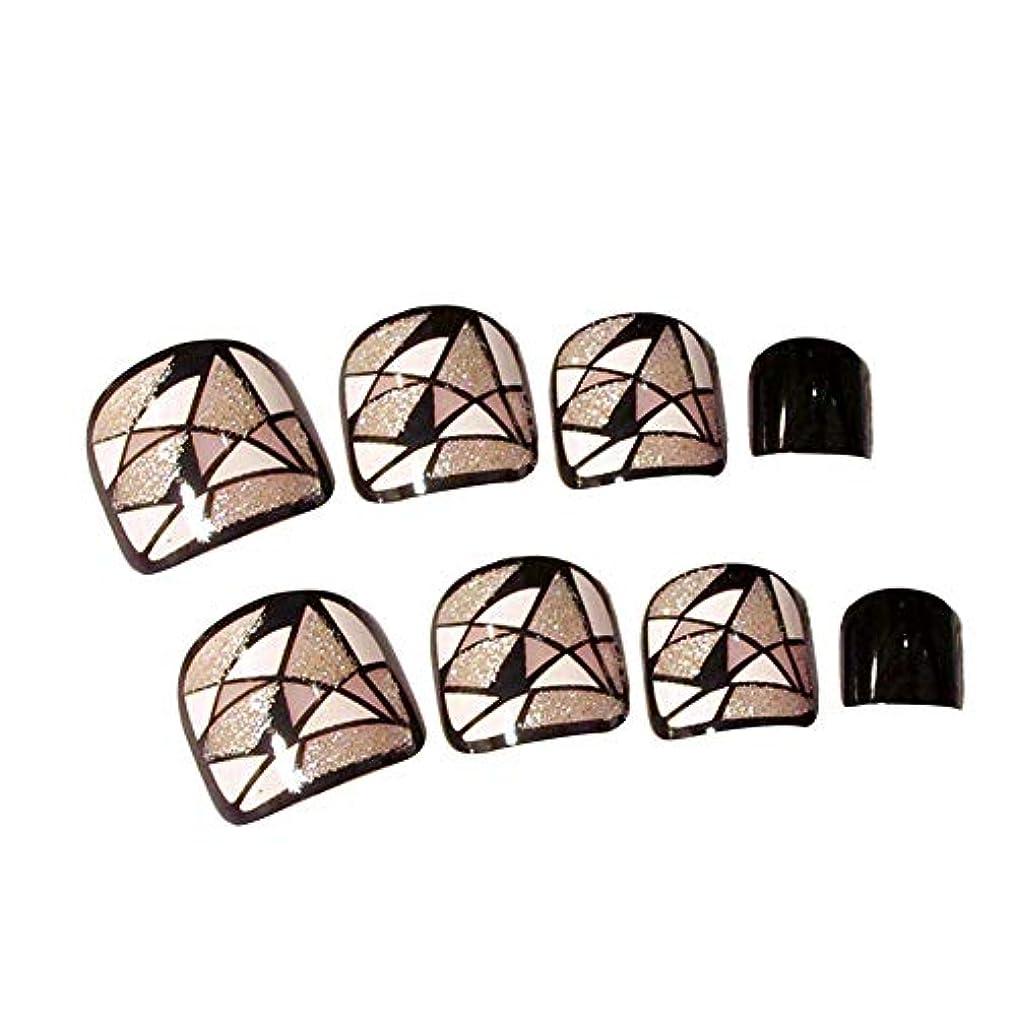 偽印刷するコンチネンタルネイルチップ ネイルステッカー 24枚セット 偽ネイルのヒント ショート 短い 足指の爪に対応 おしゃれ ファッション junexi