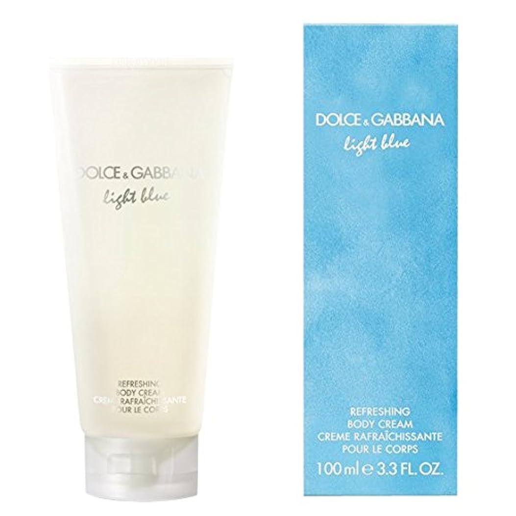 メンテナンス防腐剤欲求不満ドルチェ&ガッバーナライトブルーの爽やかなボディクリーム200ミリリットル (Dolce & Gabbana) (x2) - Dolce & Gabbana Light Blue Refreshing Body Cream...