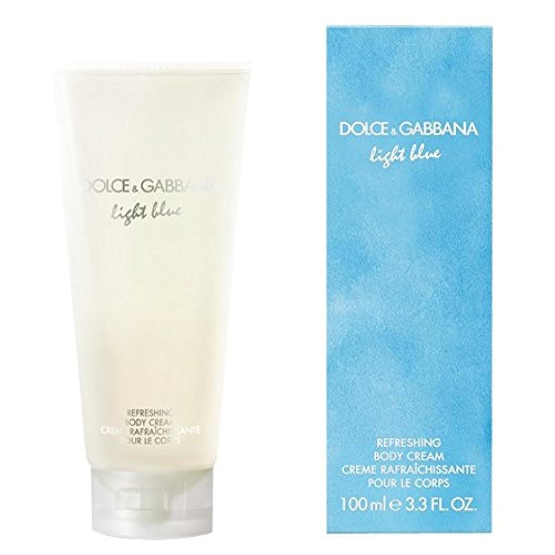 講師用量カウンターパートドルチェ&ガッバーナライトブルーの爽やかなボディクリーム200ミリリットル (Dolce & Gabbana) (x2) - Dolce & Gabbana Light Blue Refreshing Body Cream...
