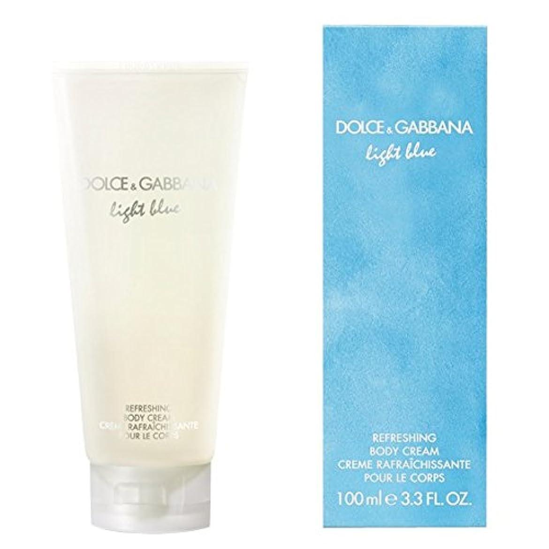 円形のストライプ質量ドルチェ&ガッバーナライトブルーの爽やかなボディクリーム200ミリリットル (Dolce & Gabbana) (x2) - Dolce & Gabbana Light Blue Refreshing Body Cream...