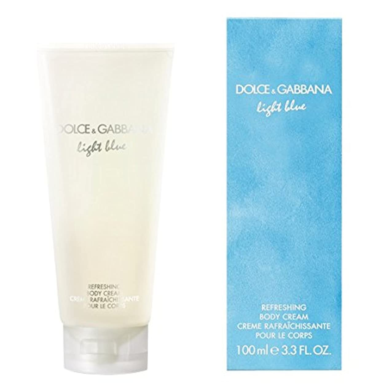 遺伝子花火まぶしさドルチェ&ガッバーナライトブルーの爽やかなボディクリーム200ミリリットル (Dolce & Gabbana) (x2) - Dolce & Gabbana Light Blue Refreshing Body Cream...