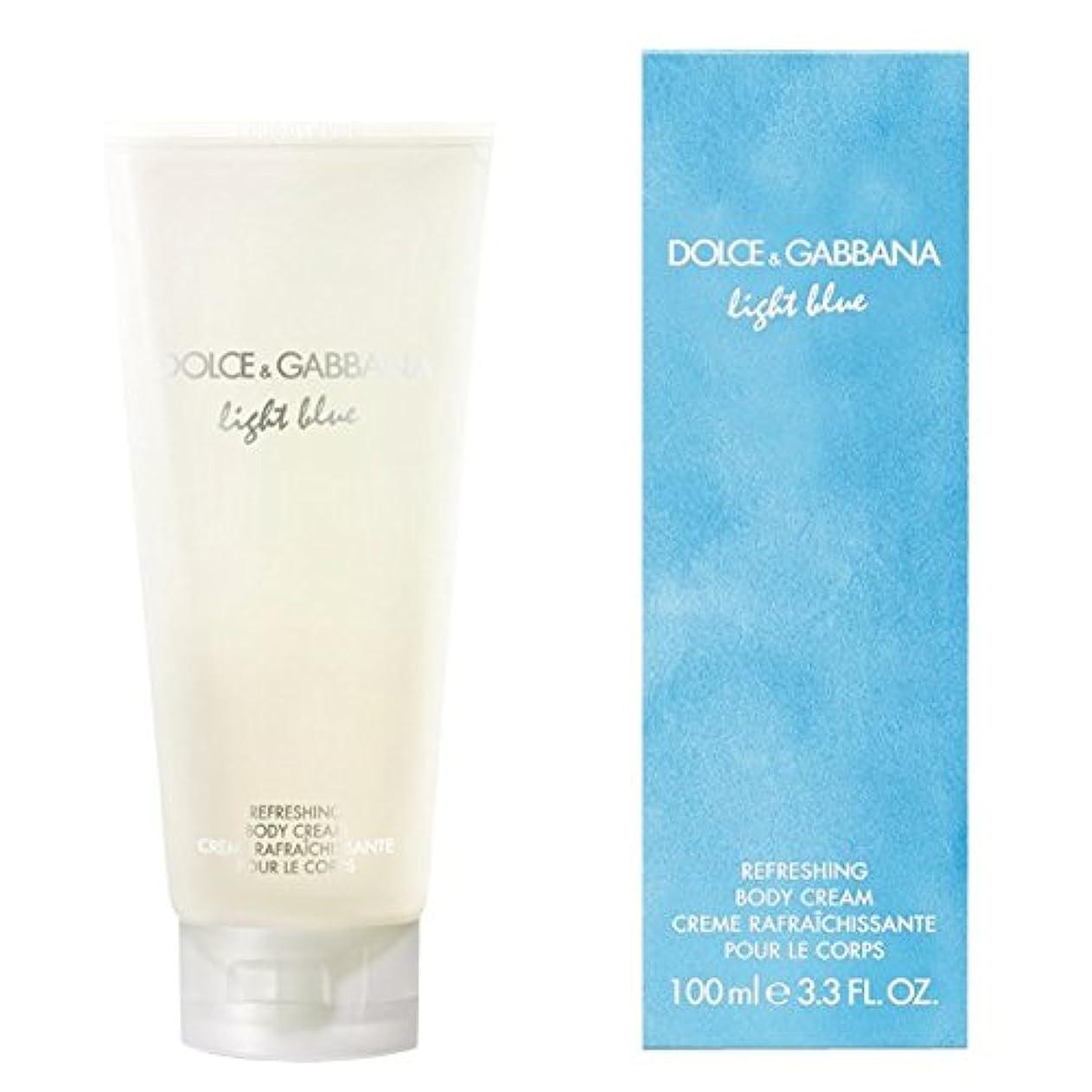 欠如過度に期間ドルチェ&ガッバーナライトブルーの爽やかなボディクリーム200ミリリットル (Dolce & Gabbana) - Dolce & Gabbana Light Blue Refreshing Body Cream 200ml...