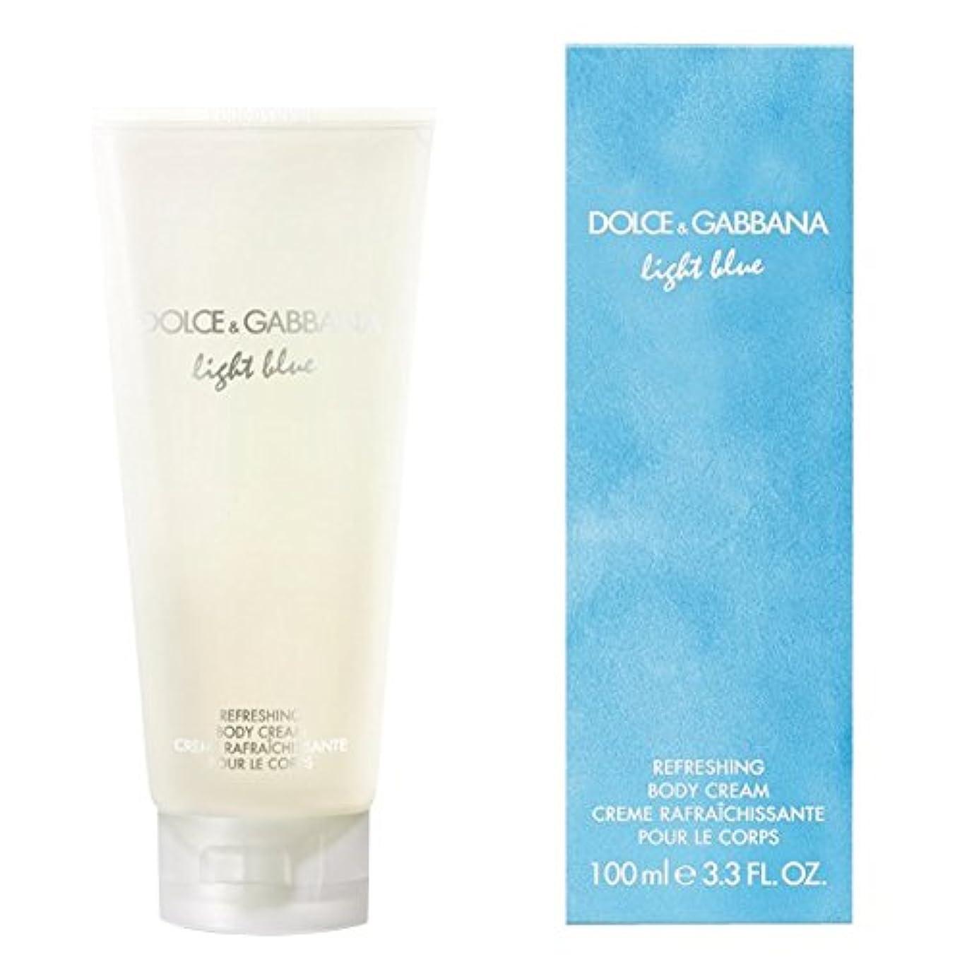 ポップ透けるリークドルチェ&ガッバーナライトブルーの爽やかなボディクリーム200ミリリットル (Dolce & Gabbana) (x2) - Dolce & Gabbana Light Blue Refreshing Body Cream...