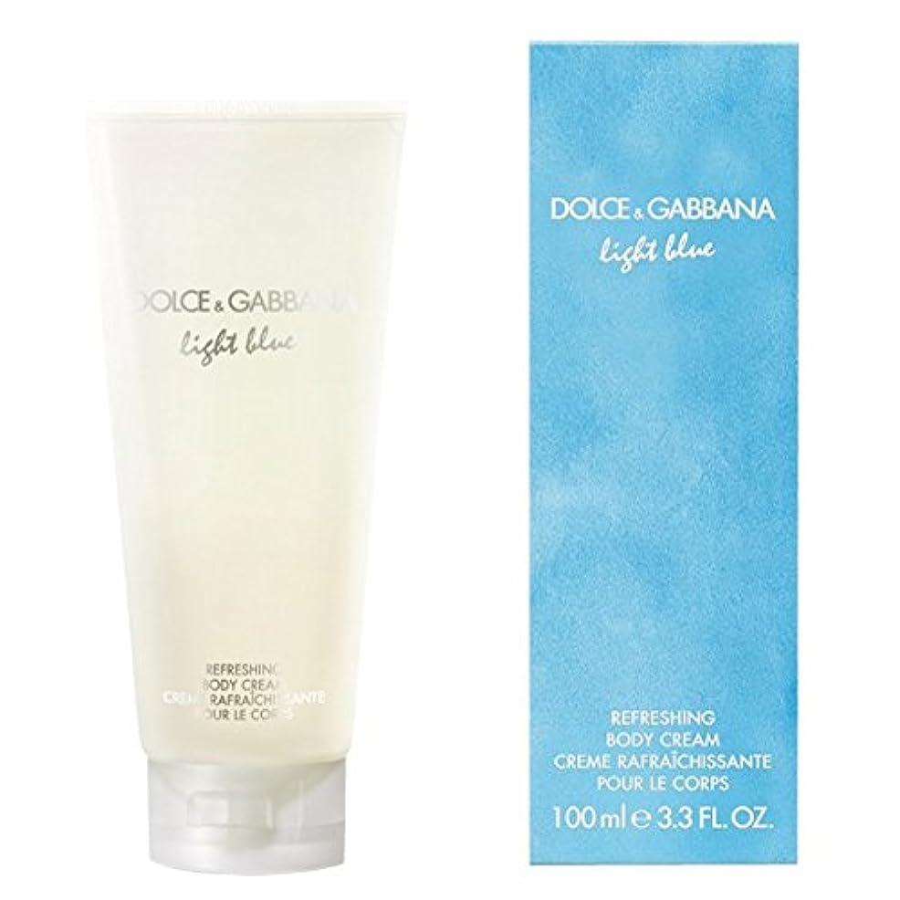 褐色プリーツ電気陽性ドルチェ&ガッバーナライトブルーの爽やかなボディクリーム200ミリリットル (Dolce & Gabbana) (x2) - Dolce & Gabbana Light Blue Refreshing Body Cream...