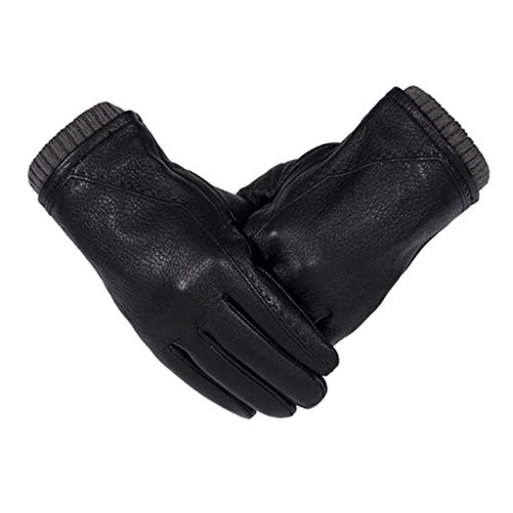 同性愛者歌手効能ある革の手袋男性の冬の厚いタッチタッチスクリーン駆動サイクリング男性の暖かい手袋