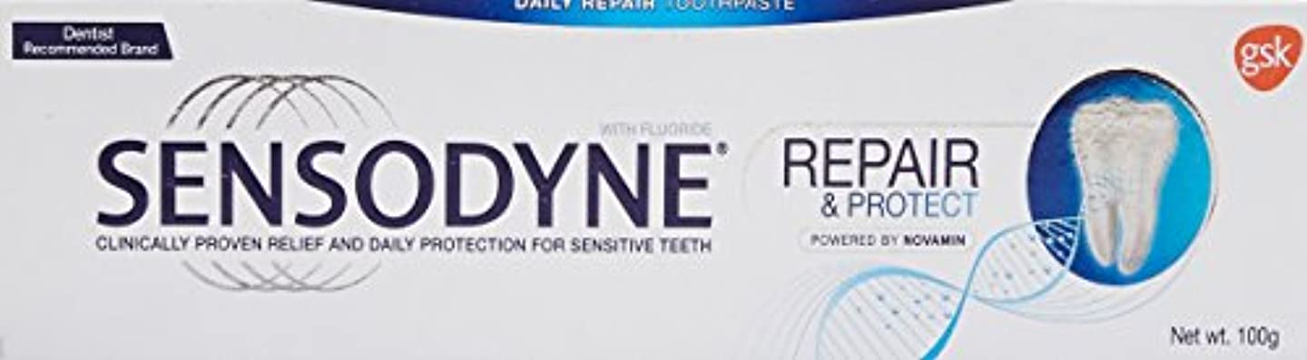 軍艦著名なラフ睡眠Sensodyne Sensitive Toothpaste Repair & Protect - 100 g