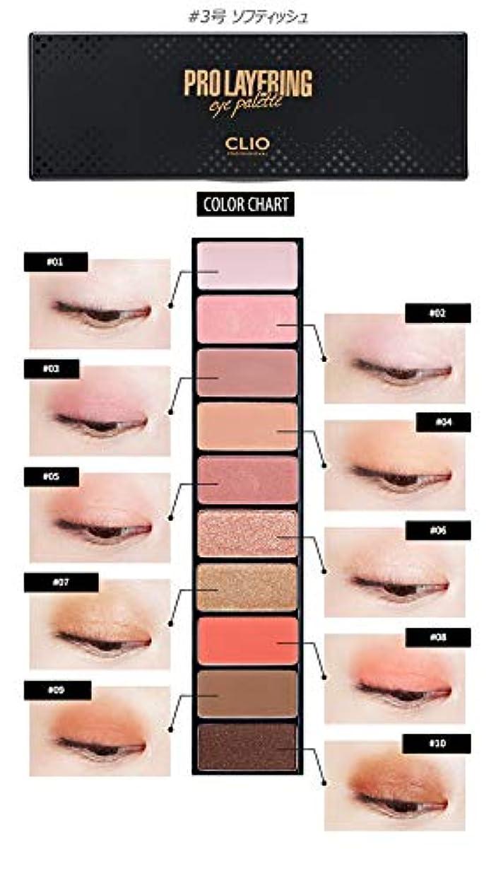 韓国語箱終点[Clio] Pro Layering Eye Palette #3 Softish