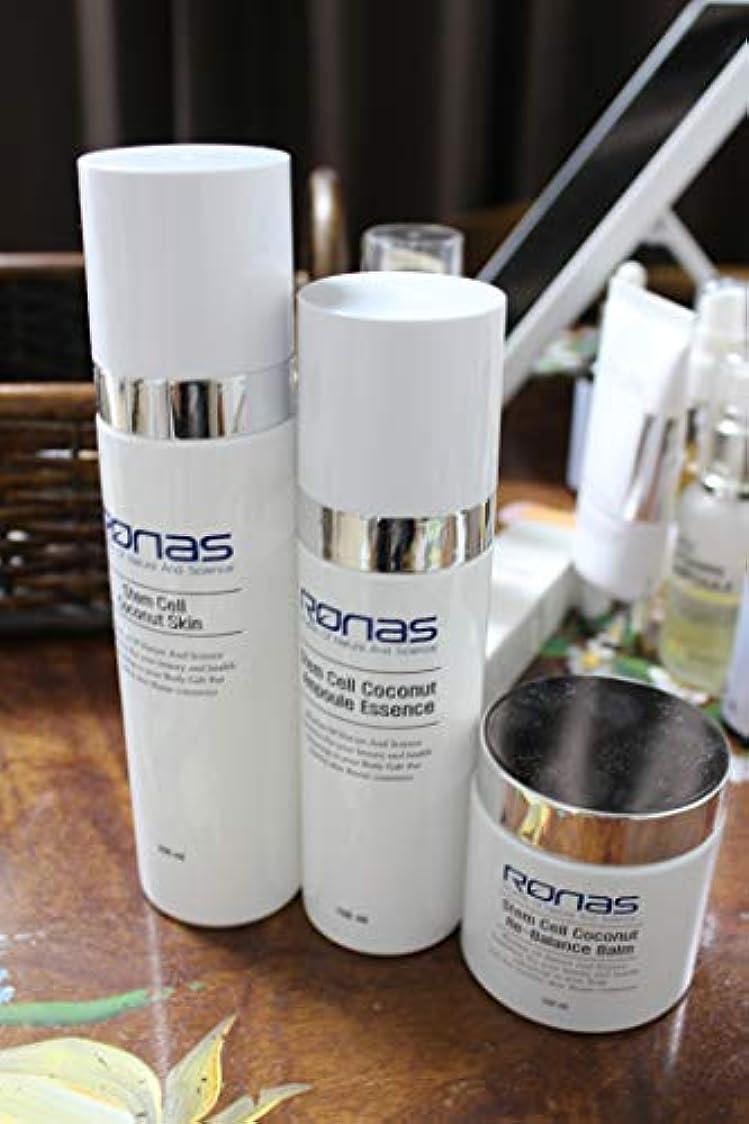 覚えているチロ依存[ronas]韓国製 エステサロン絶賛 Stem Cell coconut skin 200ml+essence 150ml+cream 3本 set