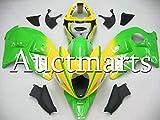 外装部品の適応スズキGSXR1300 Hayabusa 1997-2007 98 99 00 01 02 03 07黄色と緑のインジェクションモールドABSプラスチック
