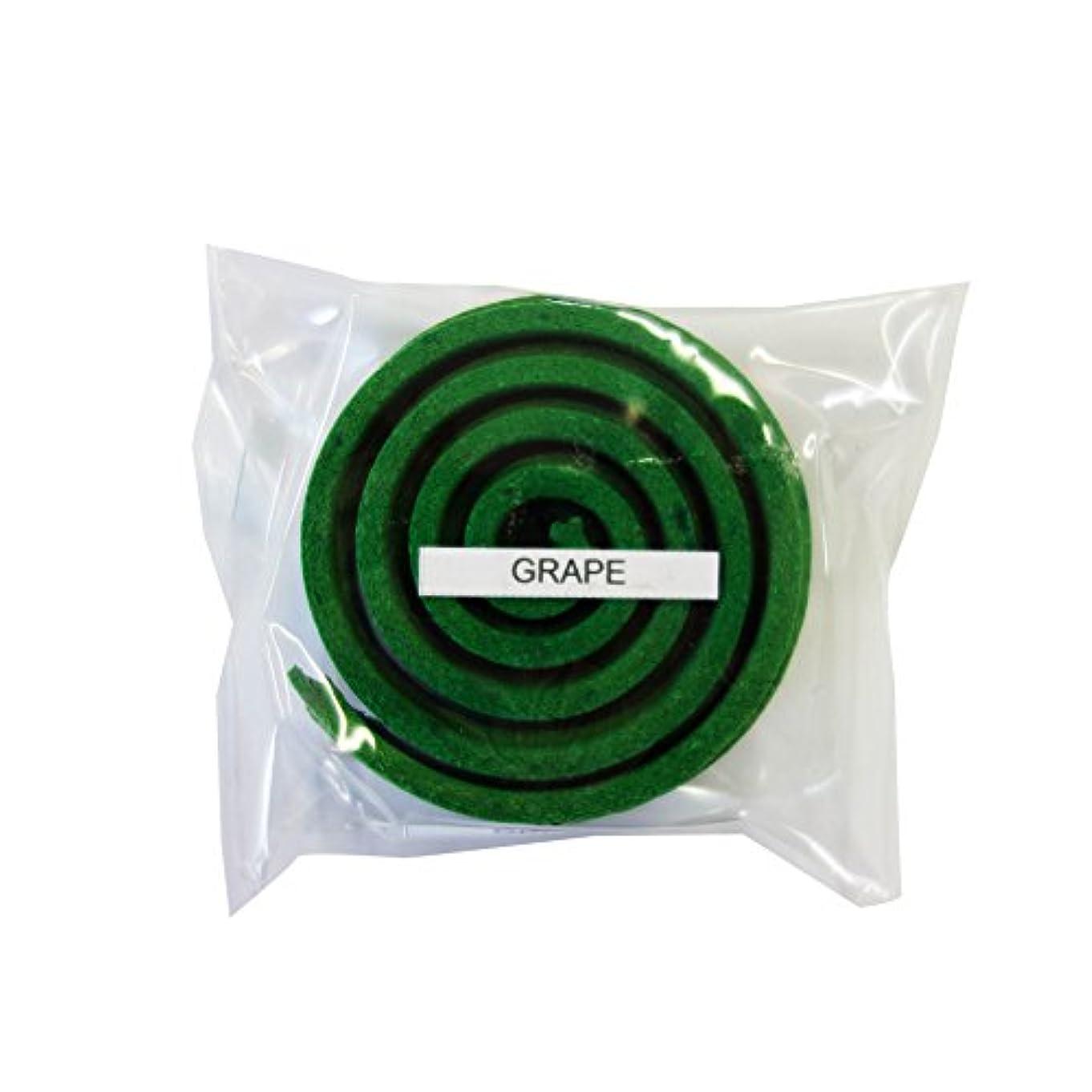 出費許されるペパーミントお香/うずまき香 GRAPE グレープ 直径5cm×5巻セット [並行輸入品]