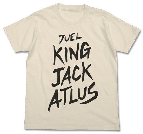 遊☆戯☆王5D's デュエルキング ジャック・アトラス Tシャツ ナチュラル Lサイズの詳細を見る