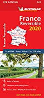 France - reversible 2020 - Michelin National Map 722 (Michelin National Maps)