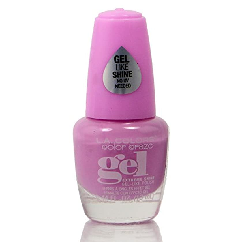 問題ヘッジ肉腫LA COLORS Color Craze Gel Polish Damsel (並行輸入品)