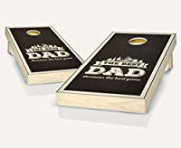 Tailgating Pros Best DadエボニーStained Cornhole Boards withのセット8Cornhole Bags