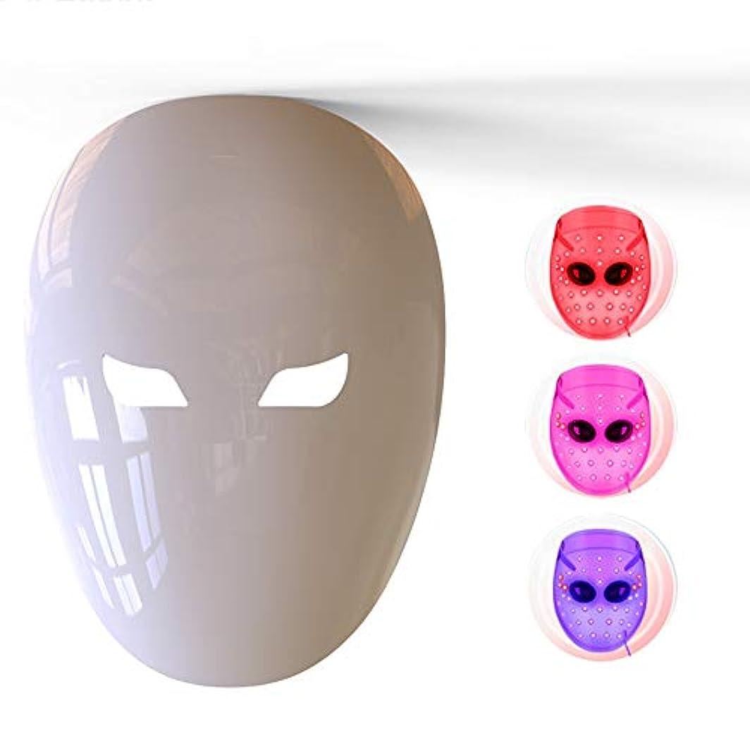液体怖い構造的フェイスマスク、4色LEDの若返り、健康な肌の若返りのためのにきび、アンチエイジング、しわ、瘢痕化、肌の引き締め