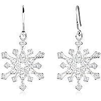 Elli Women Snowflake Zirconia 925 Sterling Silver Earrings