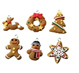 クリスマスツリー オーナメント クッキー 飾り 人気 ポリマークレイ製 かわいい 6種セット