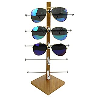 Display Rack, Petforu Wooden Sunglasses Holder Eyeglass Collections Display Stand (Wood Color) (B07543RGY7) | Amazon price tracker / tracking, Amazon price history charts, Amazon price watches, Amazon price drop alerts