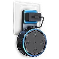 Amazon Echo Dot 壁掛け ホルダー 第2世代専用 Green Convenience カバー Alexa アレクサ エコードット専用 充電ケーブル付き ブラック