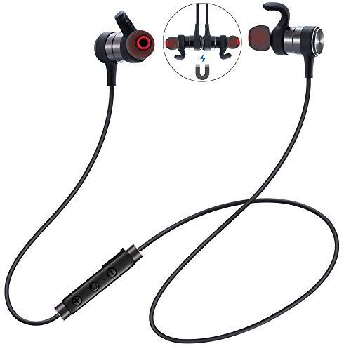 【IPX7完全防水】Bluetooth イヤホン ブルートゥース イヤホン JASODD 8時間連続駆動 Hi-Fi高音質 重低音 マイク内蔵 日本語音声提示 技適認証済 iPhone&Android対応 HBT03(ブラック) (BLACK)