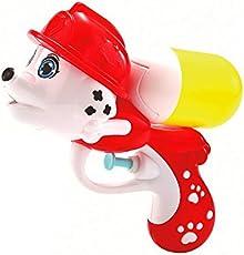 CHTOY 水鉄砲 犬 超強力飛距離 ウォーターガン 水ピストル 夏の定番 水遊び プール 子供 高性能 おもちゃ 水撃ショット (犬 レッド)