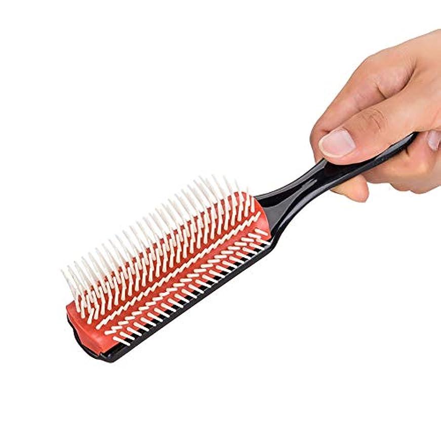 有料黄ばむ変化する男性と女性のためのプロのヘアスタイリングのヘアスタイリングコーム1個もつれ解除くしブラシくし静電防止これ以上のもつれブラシ