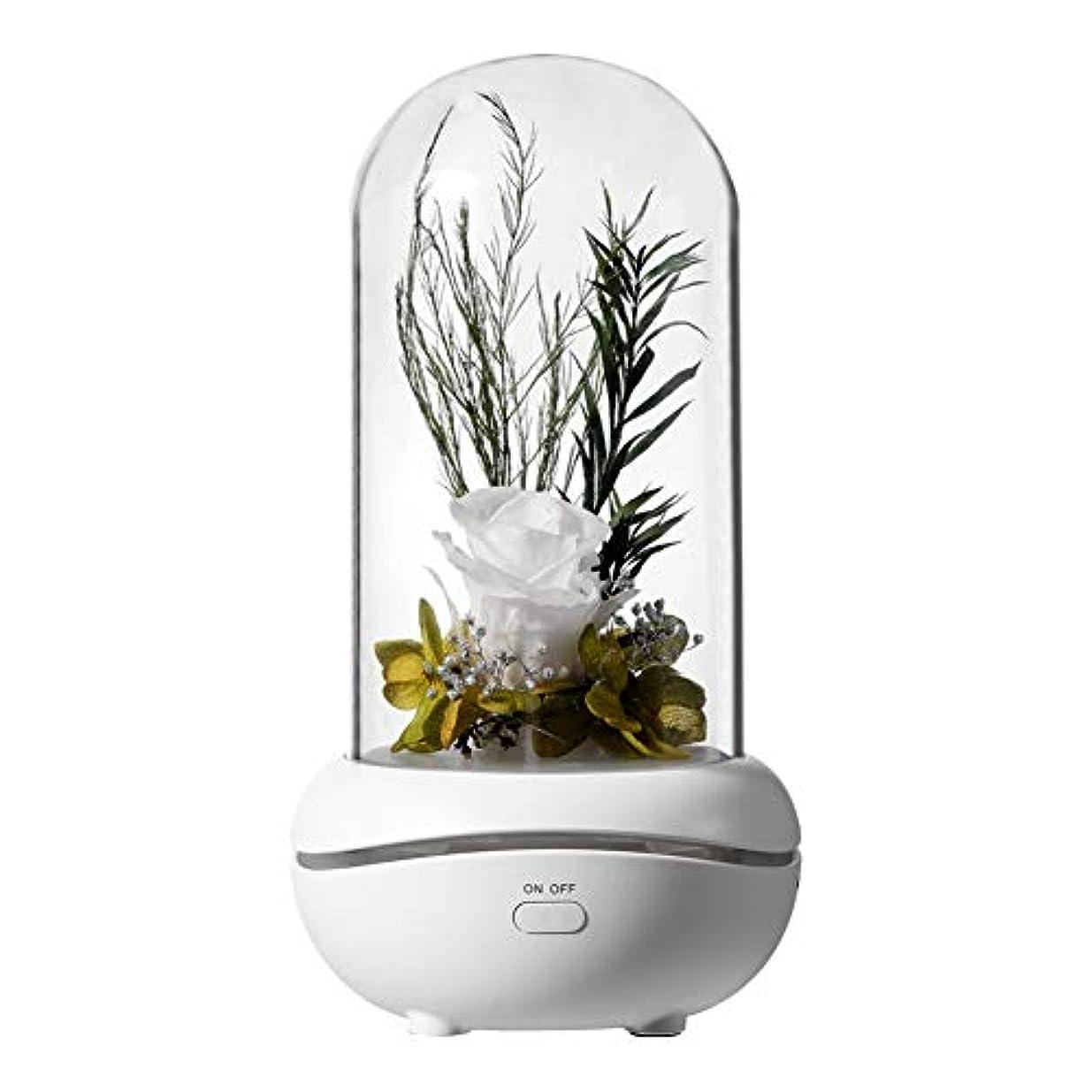 戻す検出可能つま先レモンハウス 7色LEDの夜ライトが付いている精油のための永遠のばらの花の設計香りの拡散器