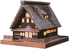 ウッディジョー  灯1 雪の合掌造り 木製模型