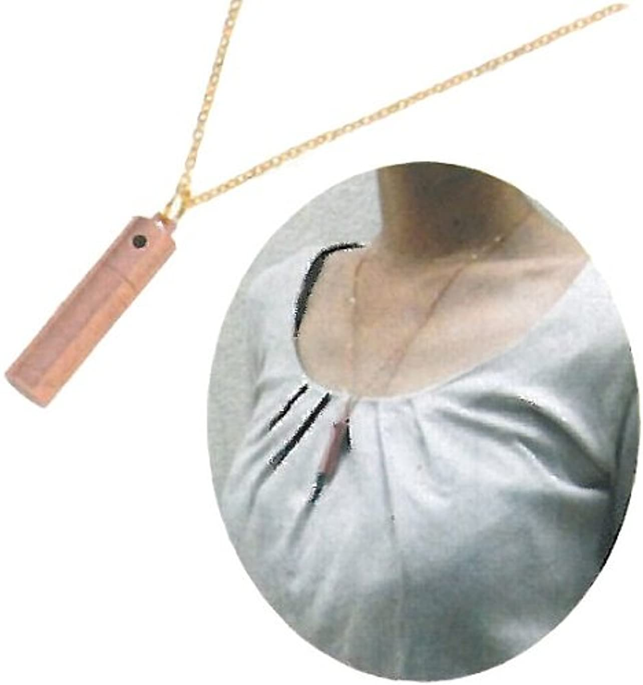 ロゴ半導体トライアスロンアロマネックレス ローズゴールド
