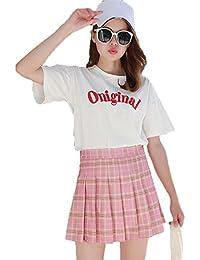 [ベィジャン] レディーズ プリーツスカート Aライン ハイウエスト ショート丈スカート シンプル 着回し 学生 OL 制服 スカート カラー 豊富 写真通りDM