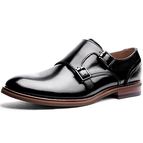 (デザート)Dessert ビジネスシューズ 紳士靴 革靴 本革 メンズ モンクストラップ ブラック 26CM 8135