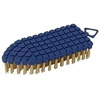 HOKOR おしゃれ な 掃除 道具 カーブに沿って 曲がる 便利 な ハンディ ブラシ たわし ネイビー 4008307-03