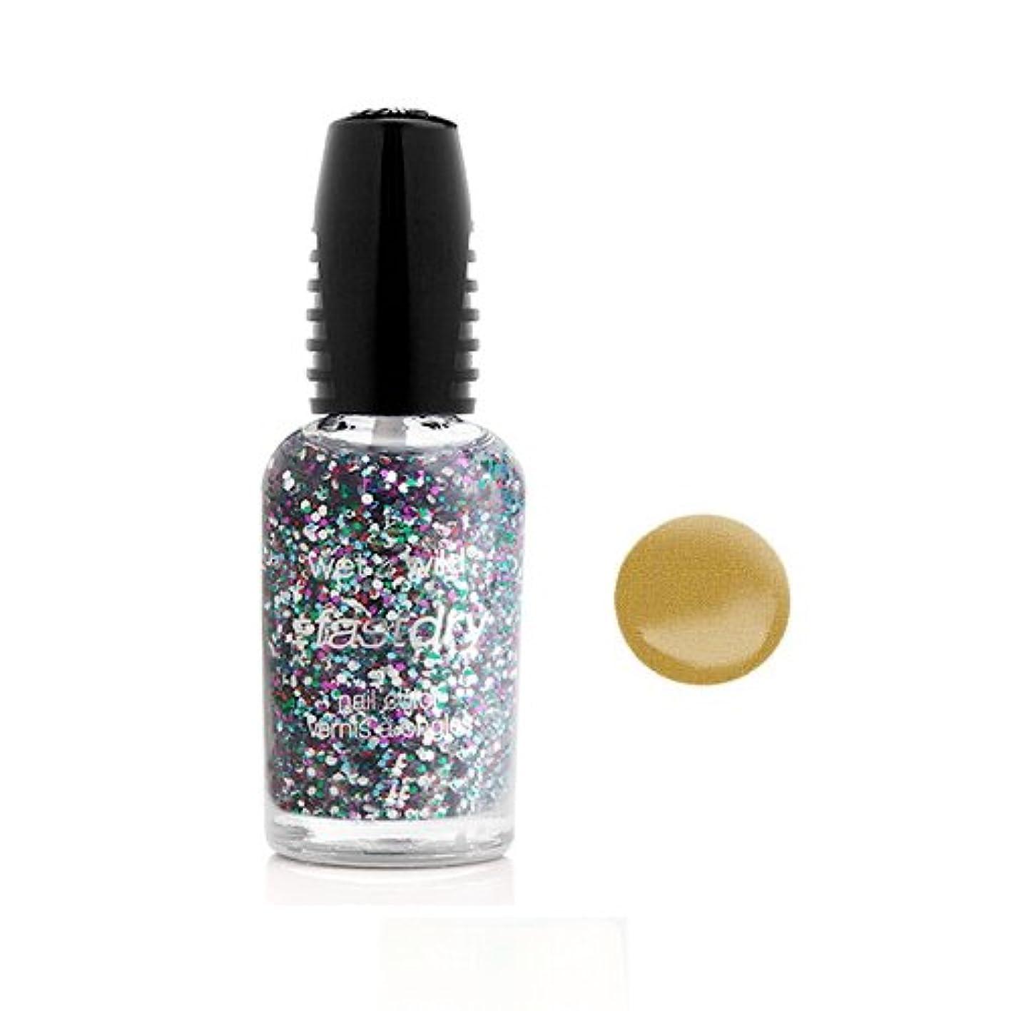円形盗難エコー(3 Pack) WET N WILD Fastdry Nail Color - The Gold & the Beautiful (DC) (並行輸入品)