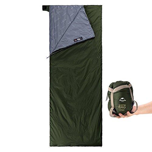 Yarrashop 封筒型 シュラフ 寝袋 軽量 コンパクト【最低使用温度15度】 キャンプ アウトドア用 (グリーン)
