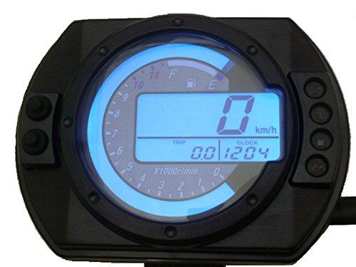 バックライト7色 デジタルメーター ワイヤー駆動 機械式 インチ設定可能