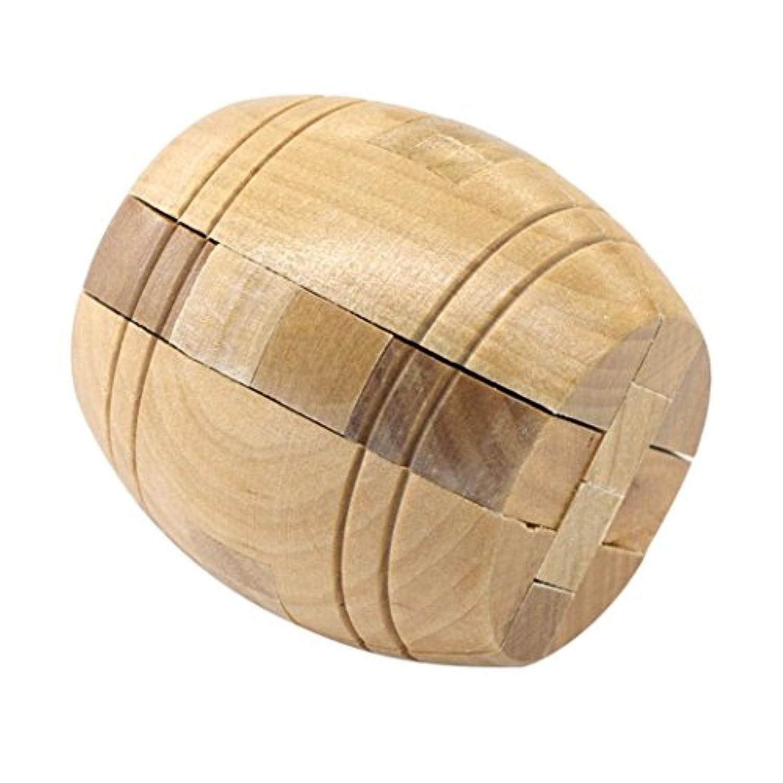木製ボールキューブツイスト3dパズル脳Teasers子供の教育玩具Teenagers大人用ストレスReliever、Wakeu ブラウン Wakeu