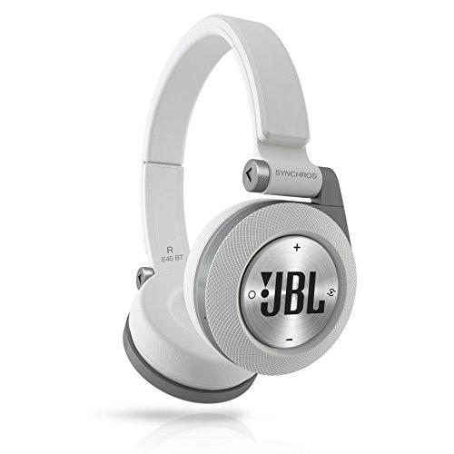 JBL Synchros E40BT ワイヤレスヘッドホン 密閉型/オンイヤー/Bluetooth ホワイト E40BTWHT 【国内正規品】
