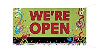 """WE'RE OPEN"""" Full Color Durable Banner - 24"""" x 48 [並行輸入品]"""