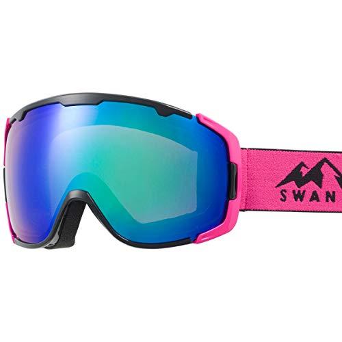 SWANS(スワンズ) スキー スノーボード ゴーグル くもり止め ミラー スキー スノーボード 150-MDHS BKPI