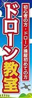 のぼり旗スタジオ のぼり旗 ドローンスクール009 大サイズ H2700mm×W900mm