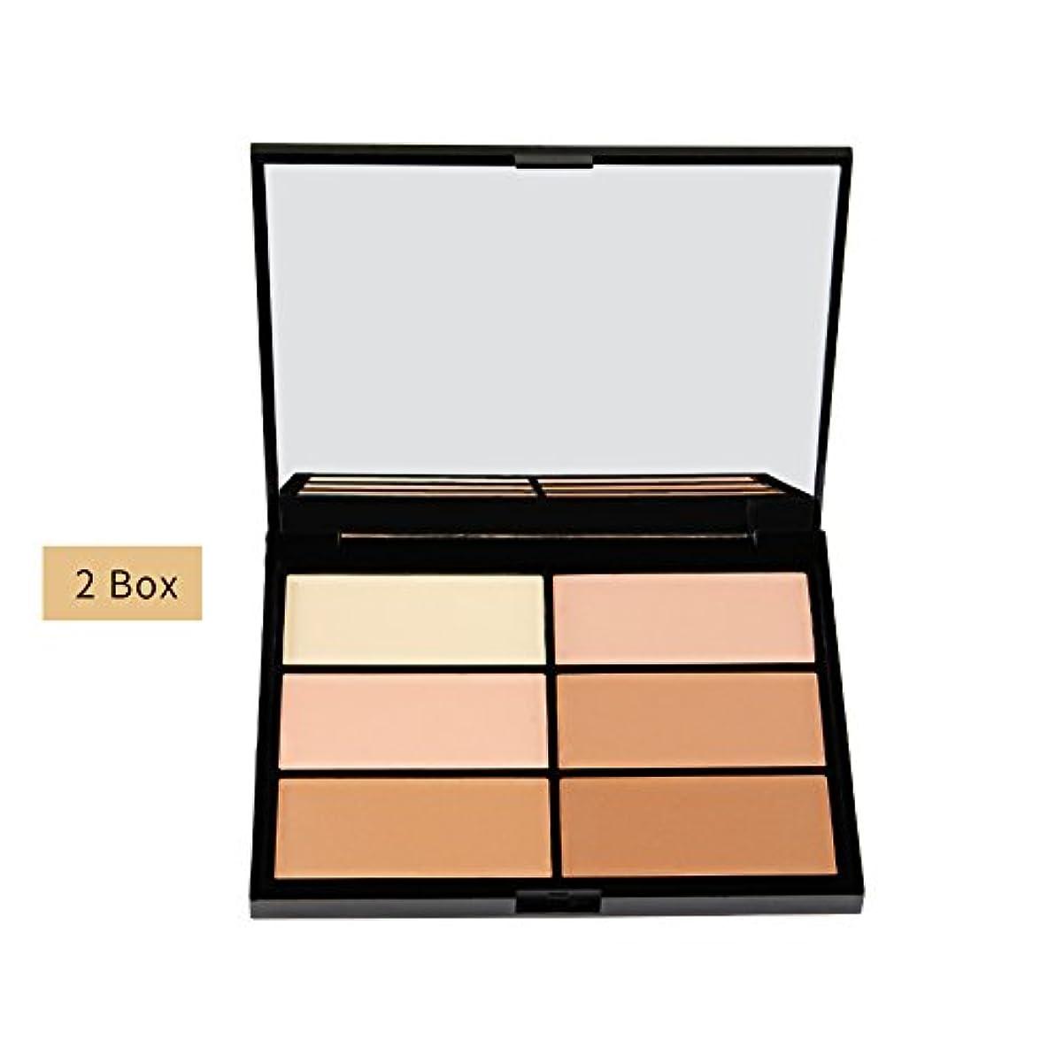 6色ハイライターパウダーハイライトブライトニングフェイシャルコントラストメークアップ化粧品(2)