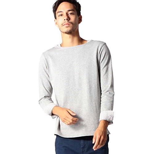 (ビームス) BEAMS / タッターソール レイヤード ボートネック 11140502592  T.GRAY M Tシャツ