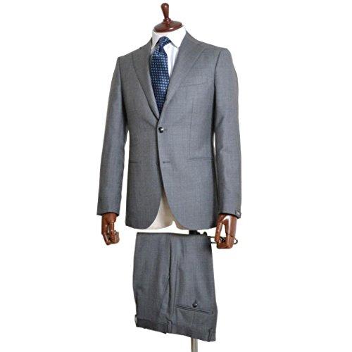 BARBA バルバ [春夏] スーツ 3ボタン ウールシャーク ワンプリーツ グレー