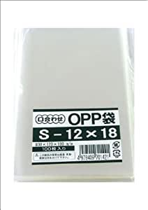 モリヤマ化成 OPP袋 S-12×18 100枚入 透明