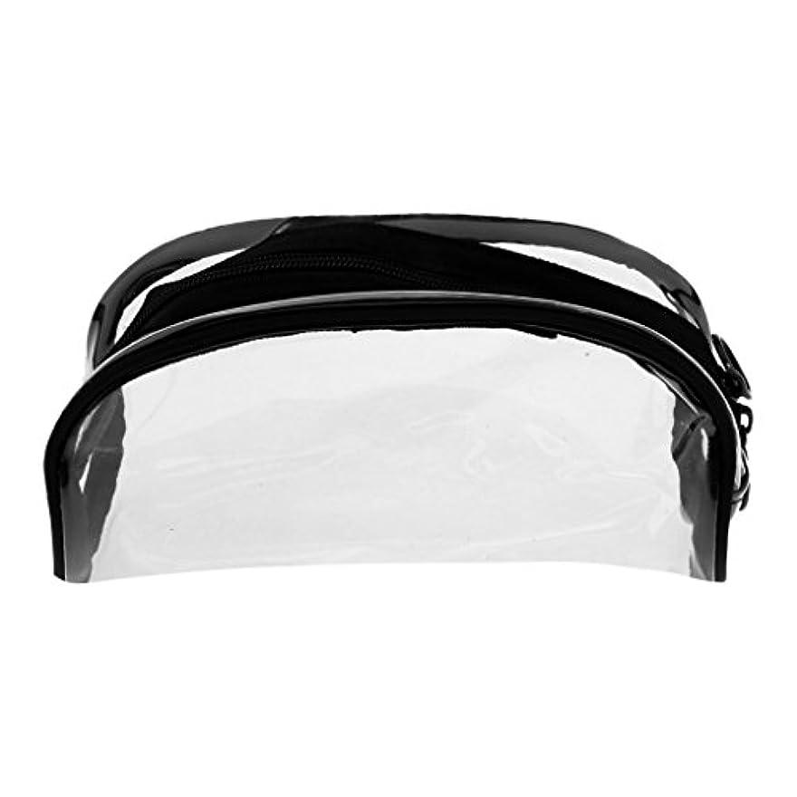 忘れっぽいブレーキ赤面Sharplace メイクバッグ 化粧ポーチ PVC クリア ジッパーバッグ メイクポーチ 透明 全4タイプ - #2