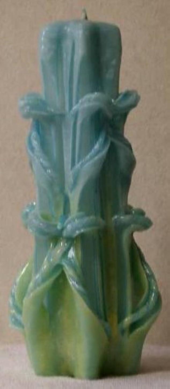 融合戸棚灌漑ハワイアンキャンドル(手作り) Sサイズ ダブルボウ?ミント エンドレスラブ