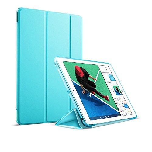 MS factory iPad 9.7 ケース カバー 2017 新型 第5世代 スマートカバー 新型iPad 耐衝撃 ソフト フレーム オートスリープ ケースカバー 全9色 スカイ ブルー 水色 IPD5-S-TPU-SKY