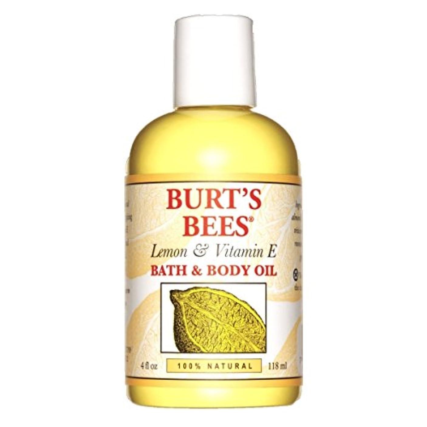 女性デモンストレーションマカダムバーツビーズ(Burt's Bees) レモン&ビタミンE バスアンドボディオイル 118ml [海外直送品][並行輸入品]