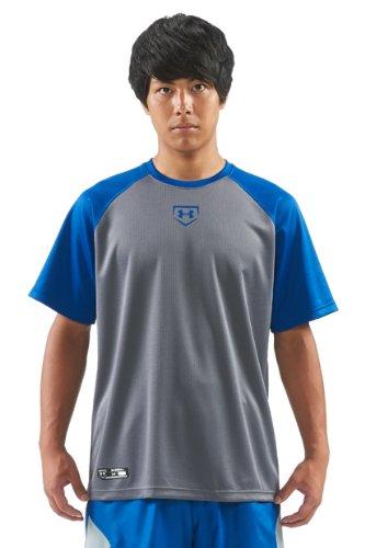 [해외] (언더아머)UNDER ARMOUR UA 빅 로고 베이스볼 셔츠-MBB7056 (2014-06-04) (SIZE:일본 LG-(일본 사이즈L상당)|COLOR:GPH/RYL)