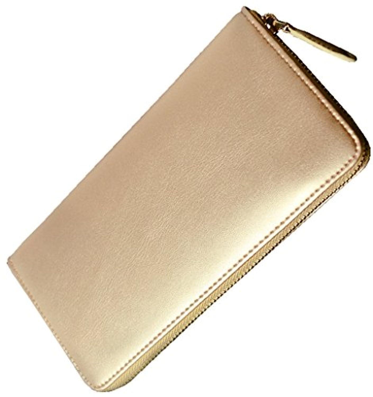 BEAMZ SQUARE BEAMZ SQUARE ビームズスクエア 牛革製オールゴールドラウンドファスナー長財布